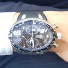 台中流當手錶拍賣 流當品拍賣 原裝 ORIS 豪利時 計時 鈦合金 碳纖維面 自動 男錶 9成5新 盒單齊