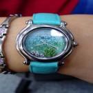 台中流當手錶拍賣 CHOPARD 蕭邦 快樂鑽 Happy SPORT 幸運草 女鑽錶 9成5新 特價出清