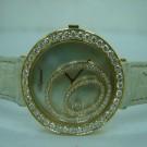 台中流當品拍賣 流當手錶拍賣 原裝 CHOPARD 蕭邦 大鵝蛋 18K 玫瑰金 女鑽錶 9成新