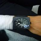 台中流當手錶拍賣 原裝 BELL&ROSS BR01-96 PVD ALT 自動 男錶 9成9新 喜歡價可議