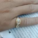台中當舖流當品拍賣 流當鑽石 45分 H色 K金 豪華鑽戒 喜歡價可議 KS002