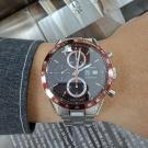 台中當舖流當精品 原裝 TAG Heuer 豪雅 CARRERA 計時 自動 男錶 9成5新 附盒 喜歡價可議KR003
