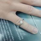 台中精品流當拍賣 流當鑽石 54分 H色 K金 女鑽戒 喜歡價可議 KS006