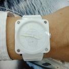 台中潤泰流當精品 原裝 BELL&ROSS BRS-98 陶瓷 石英 女錶 9成5新 盒單齊全 喜歡價可議 KR006